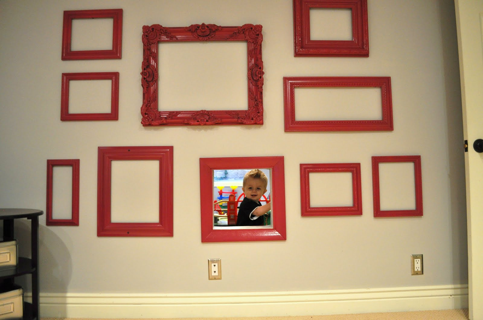 resolve to finally getting something up on the wall - here an inexpensive collage is started with just one photo