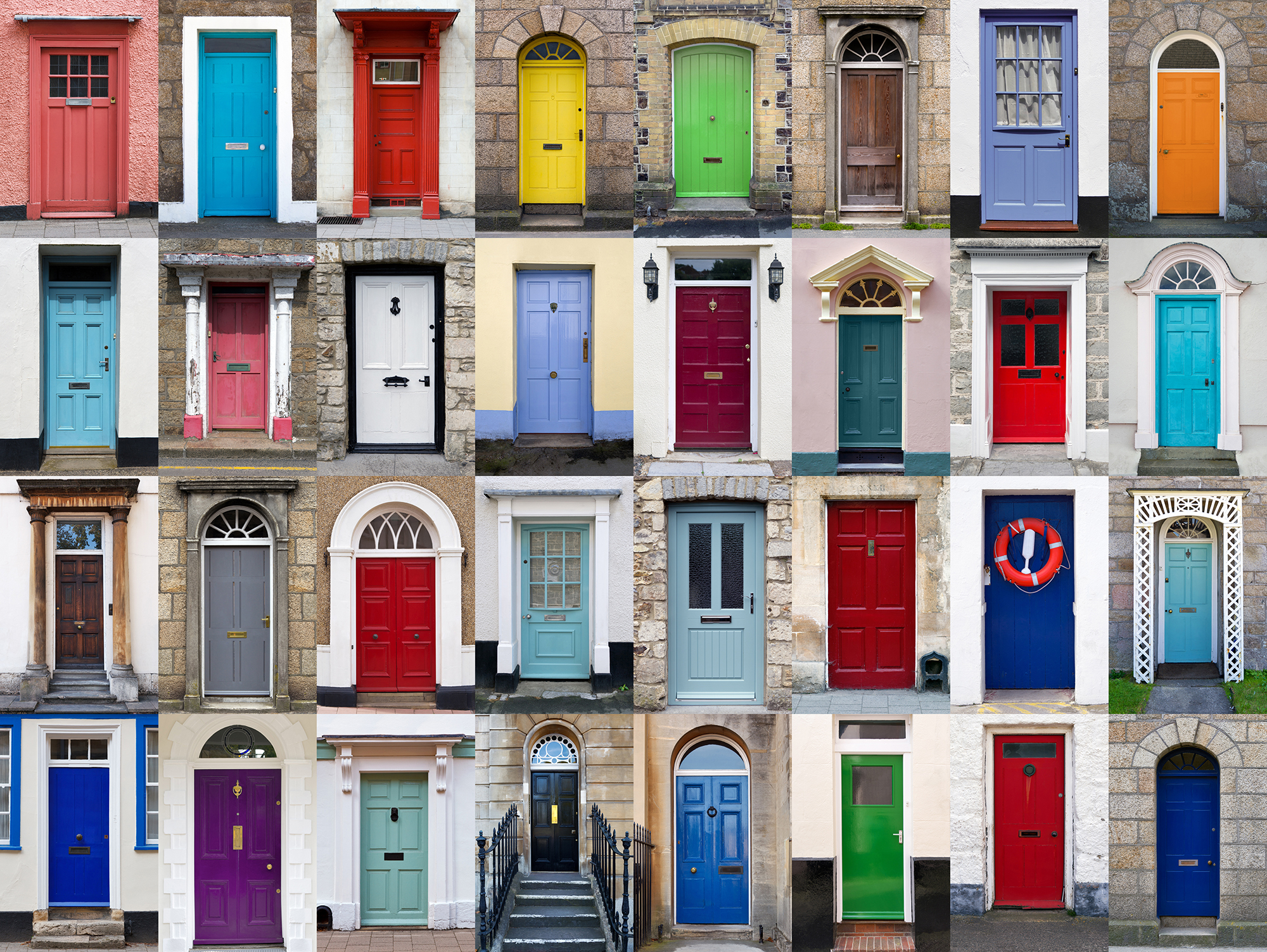 make it happen this year - plan to finally change the colour of your front door to make your neighbours envious