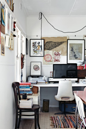 Having your stuff around in your office often makes for a better working environment