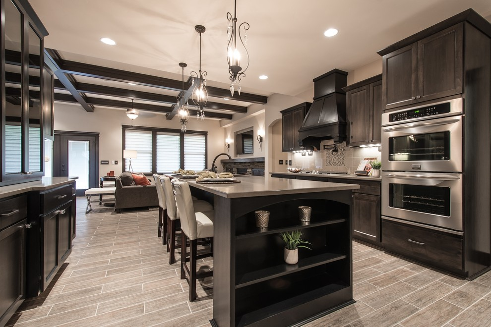 dark-wood-kitchen-cabinets-Kitchen-Transitional-with-alder-black-boxed-ceiling.jpg