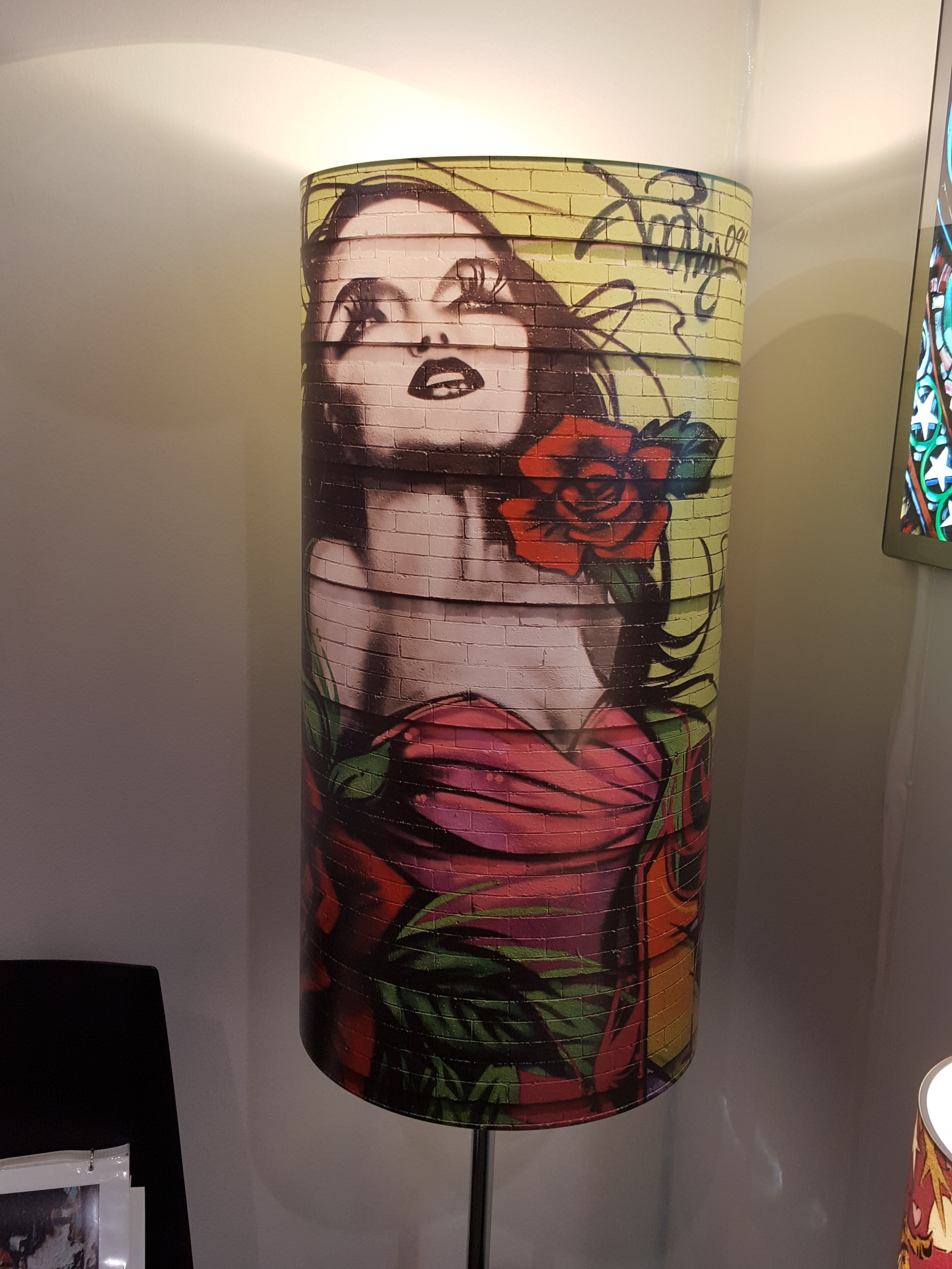 Art 2 Lights - choose your own image, or one of theirs. Street art on a lampshade - brilliant!