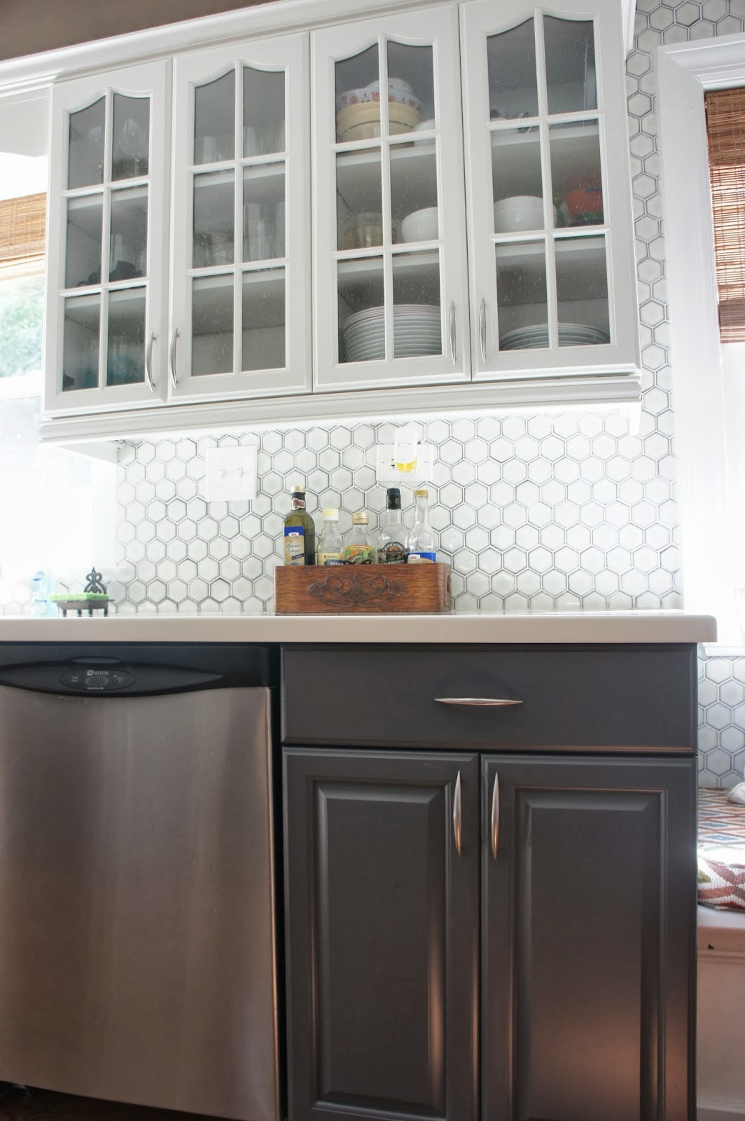 two-tone-gray-and-white-painted-kitchen-cabinet-makeover-featured-on-Remodelaholic.jpg