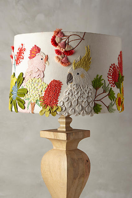 Add whimsy with decals to your lampshades - or go on Etsy.ca and find a new one that will change the whole mood of the space.