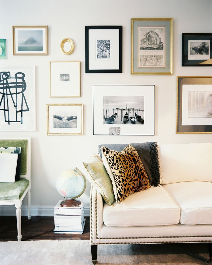 Do you have several smaller pictures around the house? Corral them to one focal wall for higher impact.