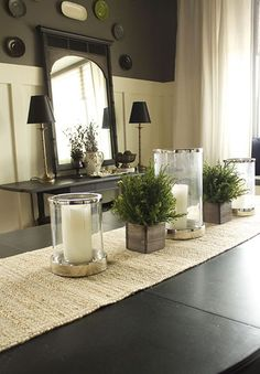 15 - 7 - table runner with candles and plants.jpg
