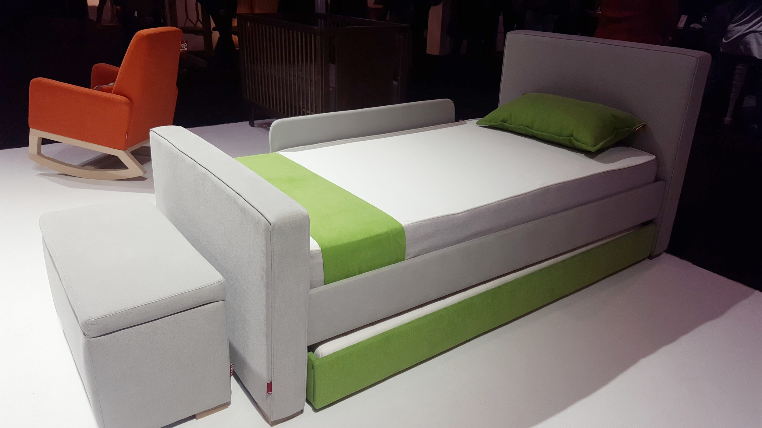 More from Monte - soft sided trundle bed and bench - so sleek for any age child... or adult?