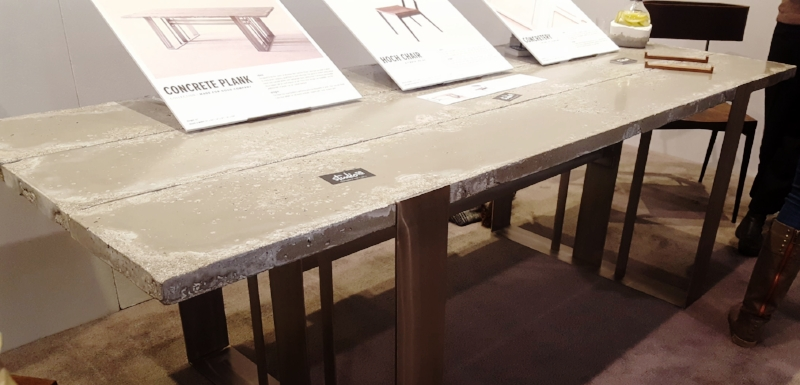 I was swooning over this concrete slab table - all made to measure and no maintenance required. By Studio 50