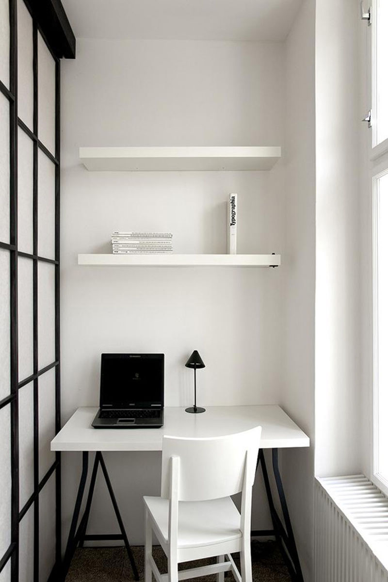 Small-Office-Ideas-with-Black-Laptop-closed-Desk-Lamp-on-Square-Table-front-Simple-White-Chair-beside-Glass-Window-plus-Cute-Book-Storage.jpg