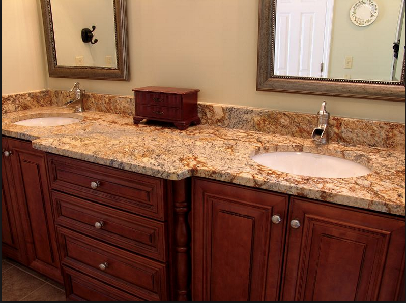 OUT - dirty looking granite and granite overload.