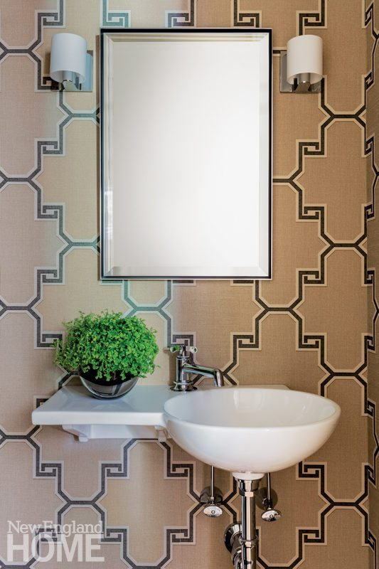 Just add wallpaper! And while you're at it, an interesting sink goes a long way too!