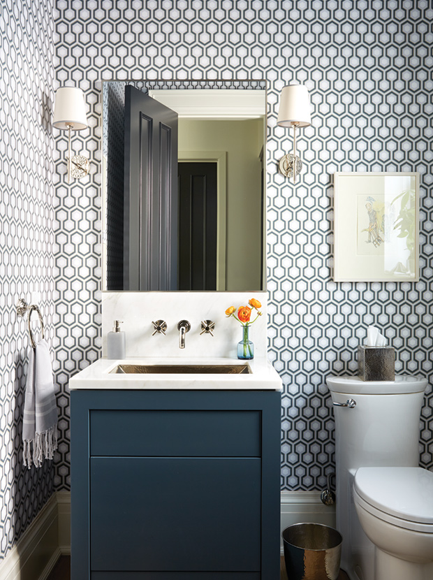 I could go on forever with ideas for powder rooms. They are small but can have SO much impact if done right.