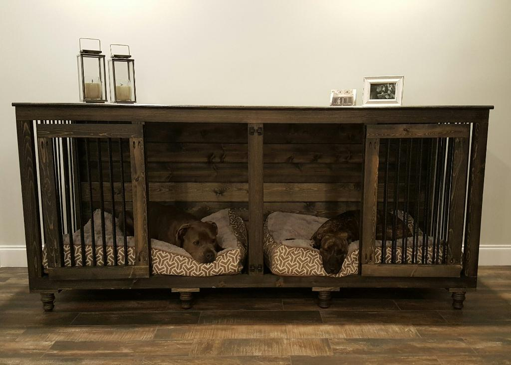 Many dogs need a crate, so why not make one that feels like a piece of furniture?