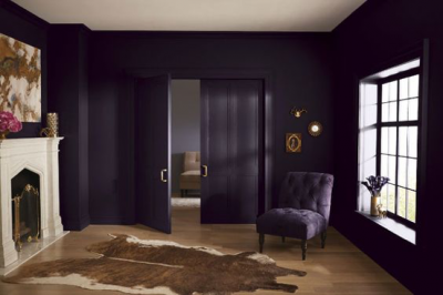 Paint it all out - the trim, the doors, the walls... and of course be as bold as your heart desires with depth of colour.