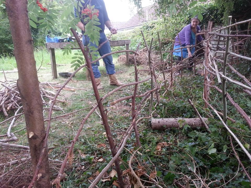 Volunteers at The Secret Garden.