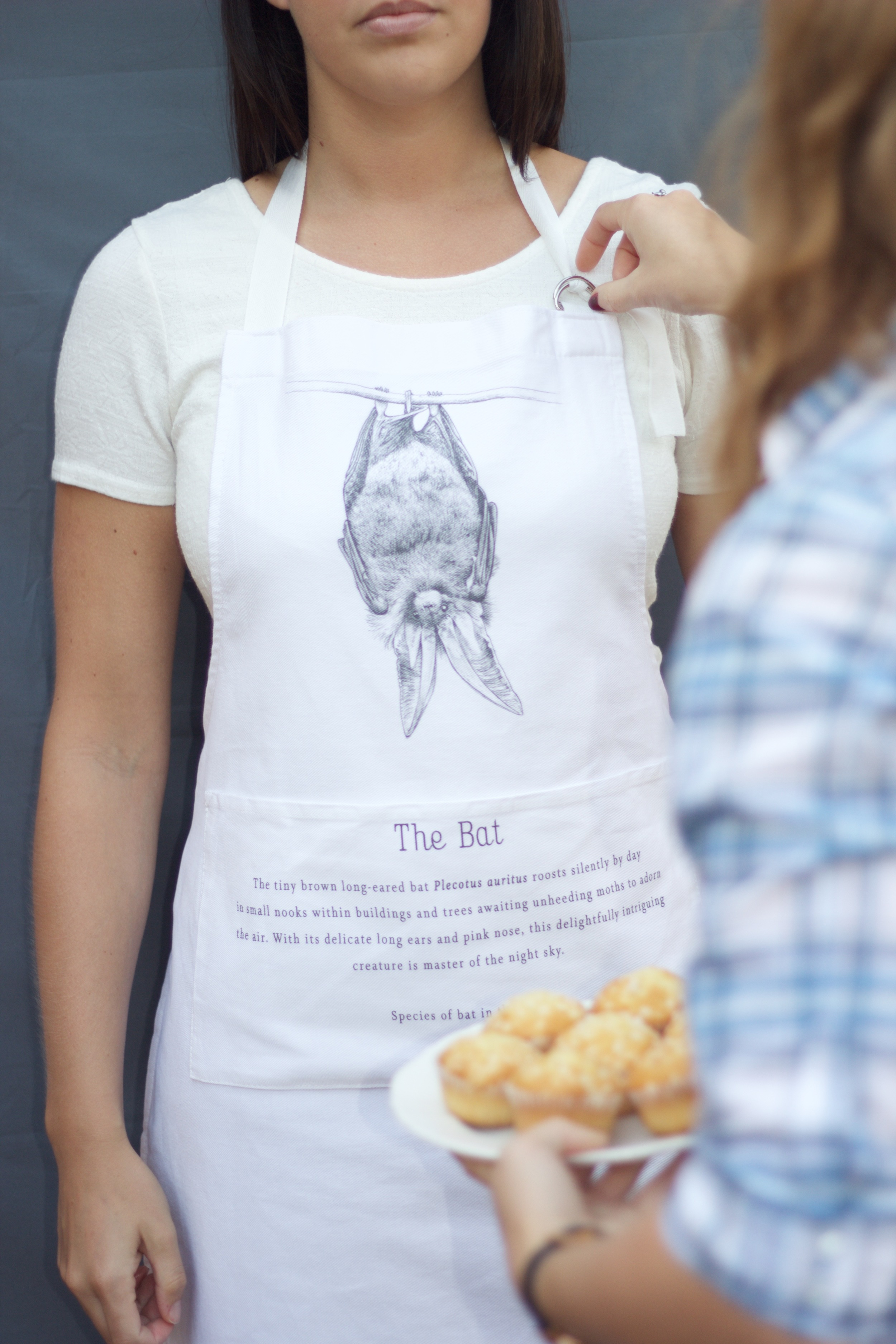 Thick, cotton bat apron £25 (including a £2.50 donation to the  Bat Conservation Trust )
