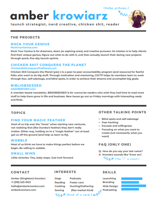 Speaker sheet (click to view or download)