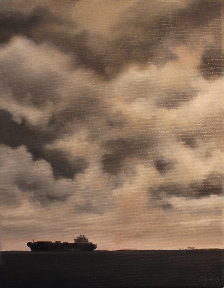 """'Halifax Shipping Lane - London Express' - 11"""" x 14"""" - Oil on canvas - 2014 : SOLD"""