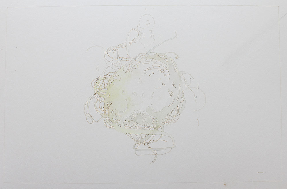 David Clark - Shadow's Shadow's #5 - Ink on Paper - 16x12.JPG