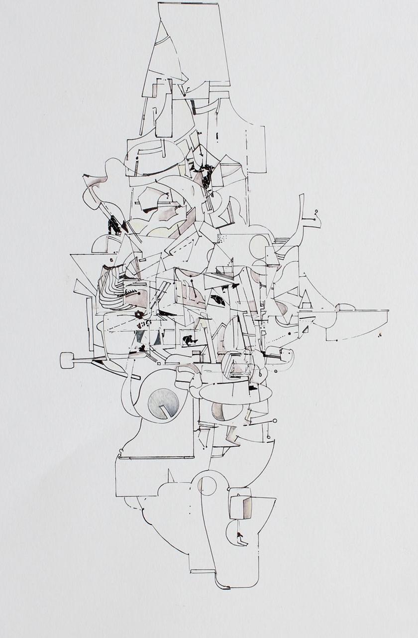 David Clark - Cricketeer #4 - Ink on Paper - 8x11.JPG