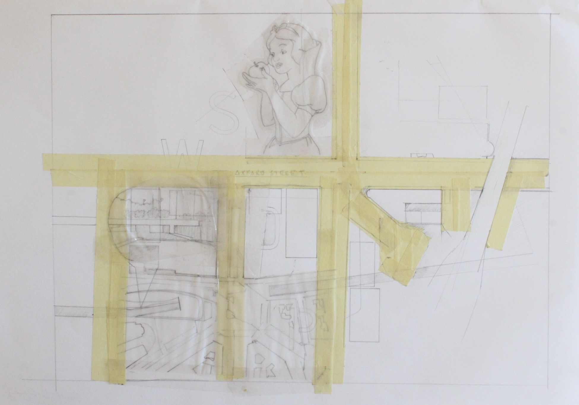 "'david clark - 9' - 11.5"" x 16.5"" - collage - $275"