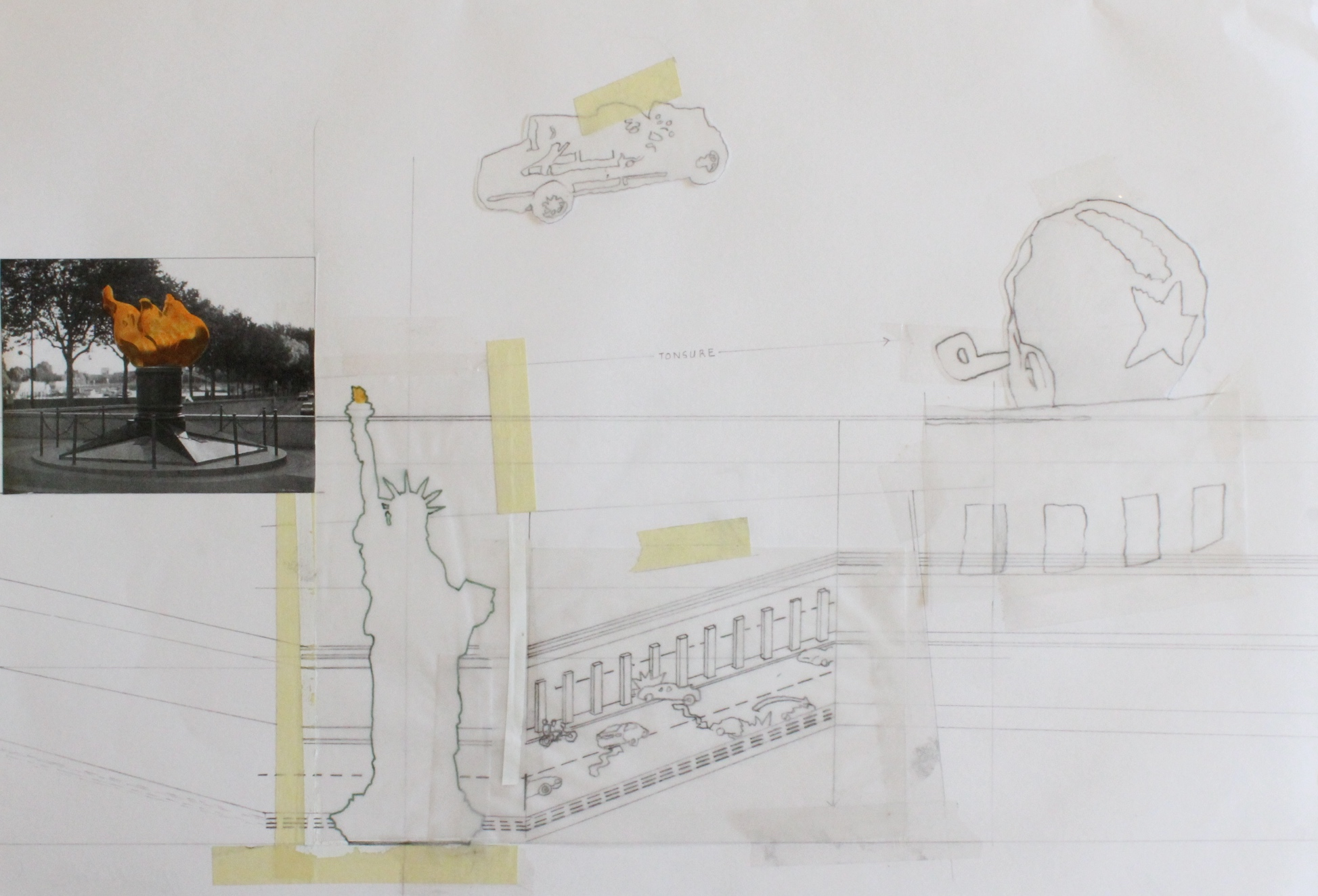 "'david clark - 11' - 11.5"" x 16.5"" - collage - $275"