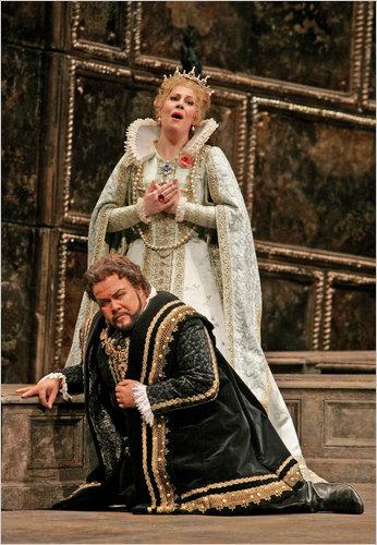 Sondra Radvanovsky and Richard Margison in Don Carlos at the Metropolitan Opera.