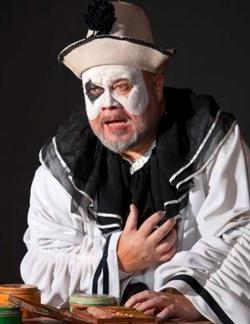 Margison as  Pagliacci in the Edmonton Opera's season opener.