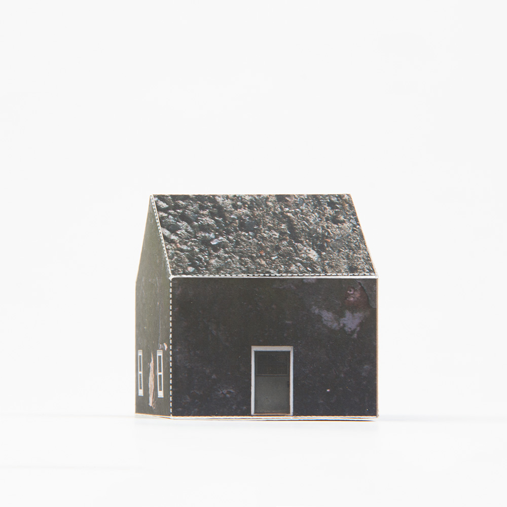 'Chipped Cement', paper construction, 2½'' x 2½'' x 2''- sold