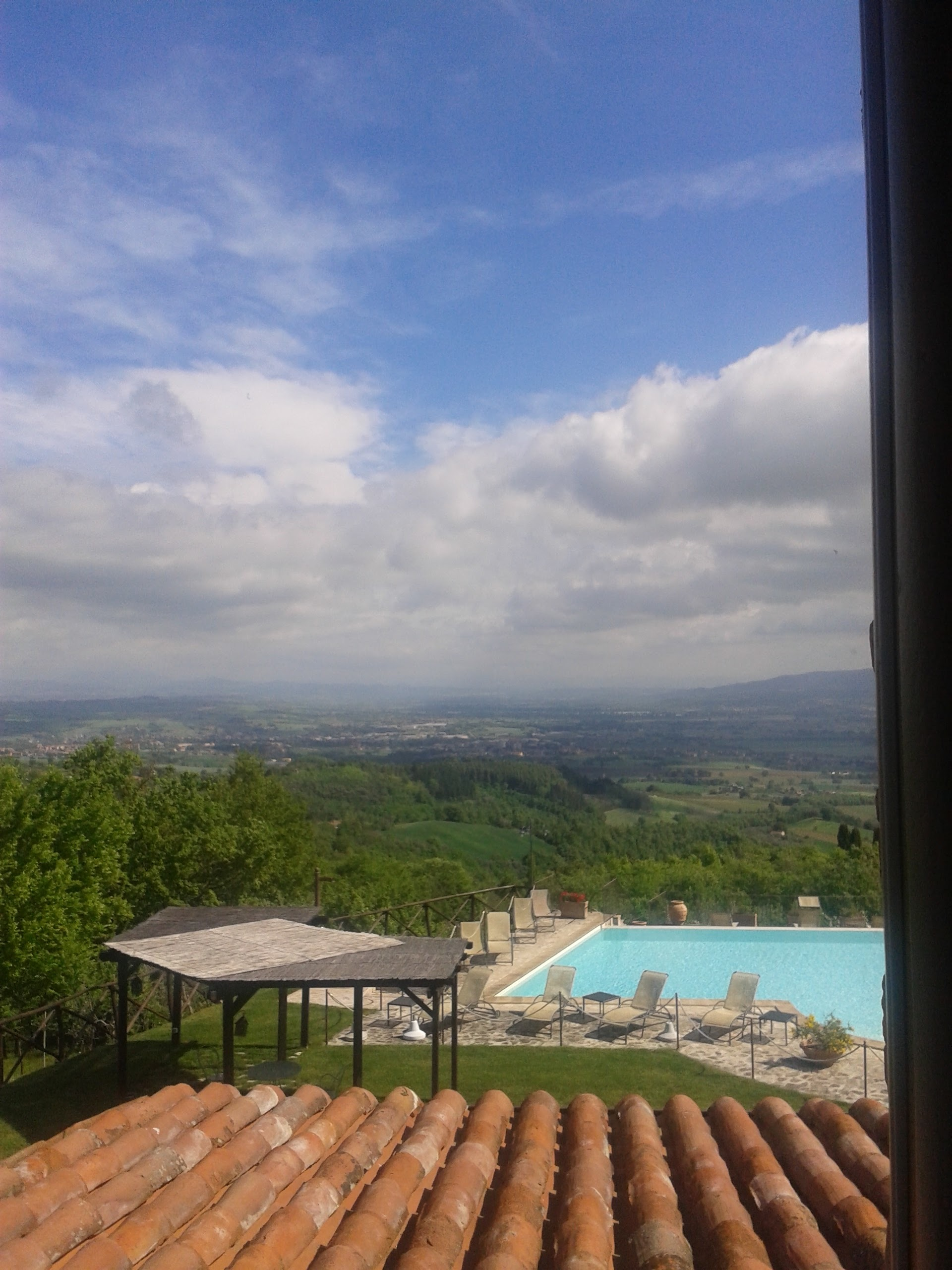 The view out of a window at our Umbrian Villa