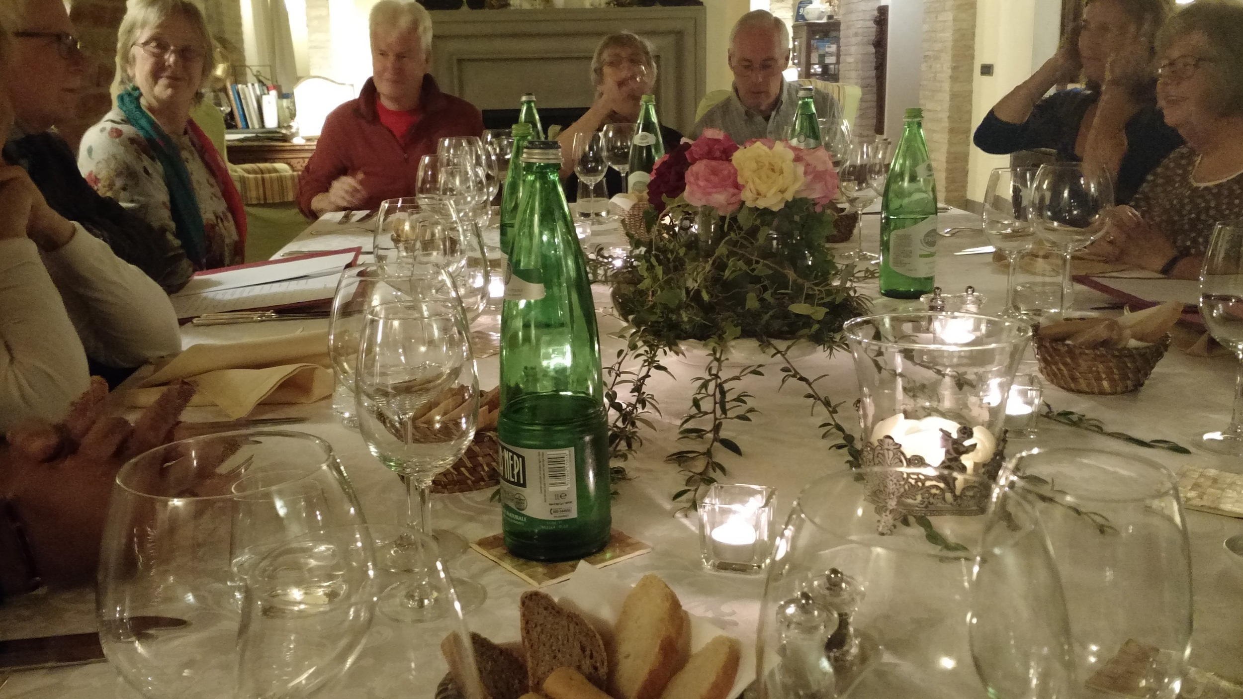Dinner at our Umbrian villa