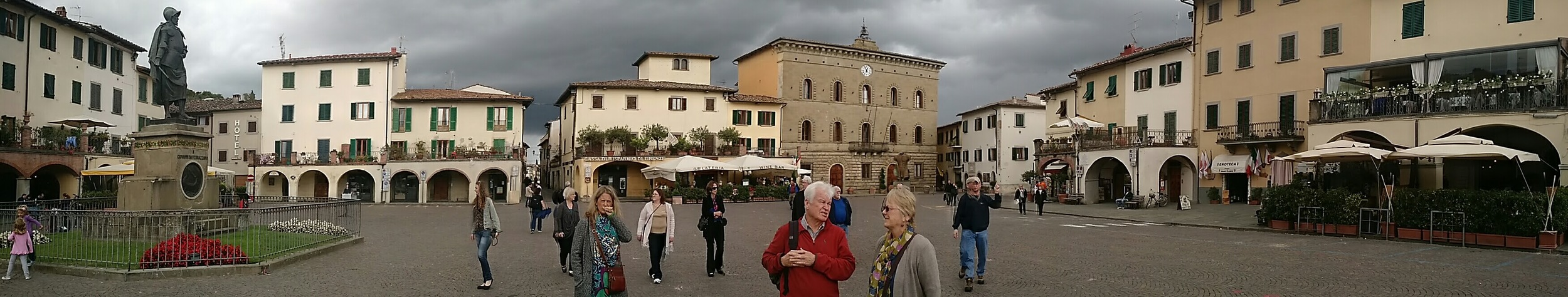 A panorama of this Tuscan town