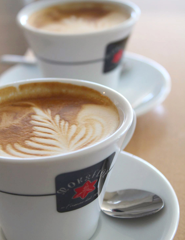 Copy of Copy of Copy of A cappuccino from our a la carte espresso bar.
