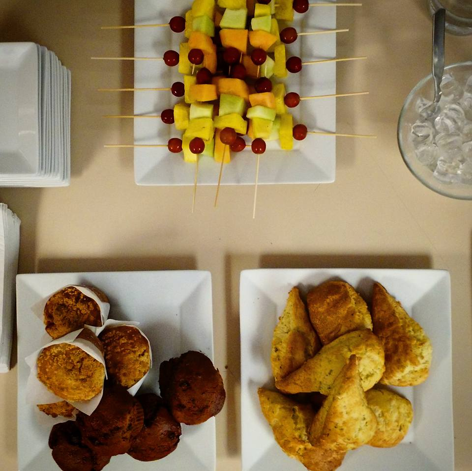 Copy of Copy of Copy of Fresh fruit skewers are a great way to start the morning or a mid-meeting break!