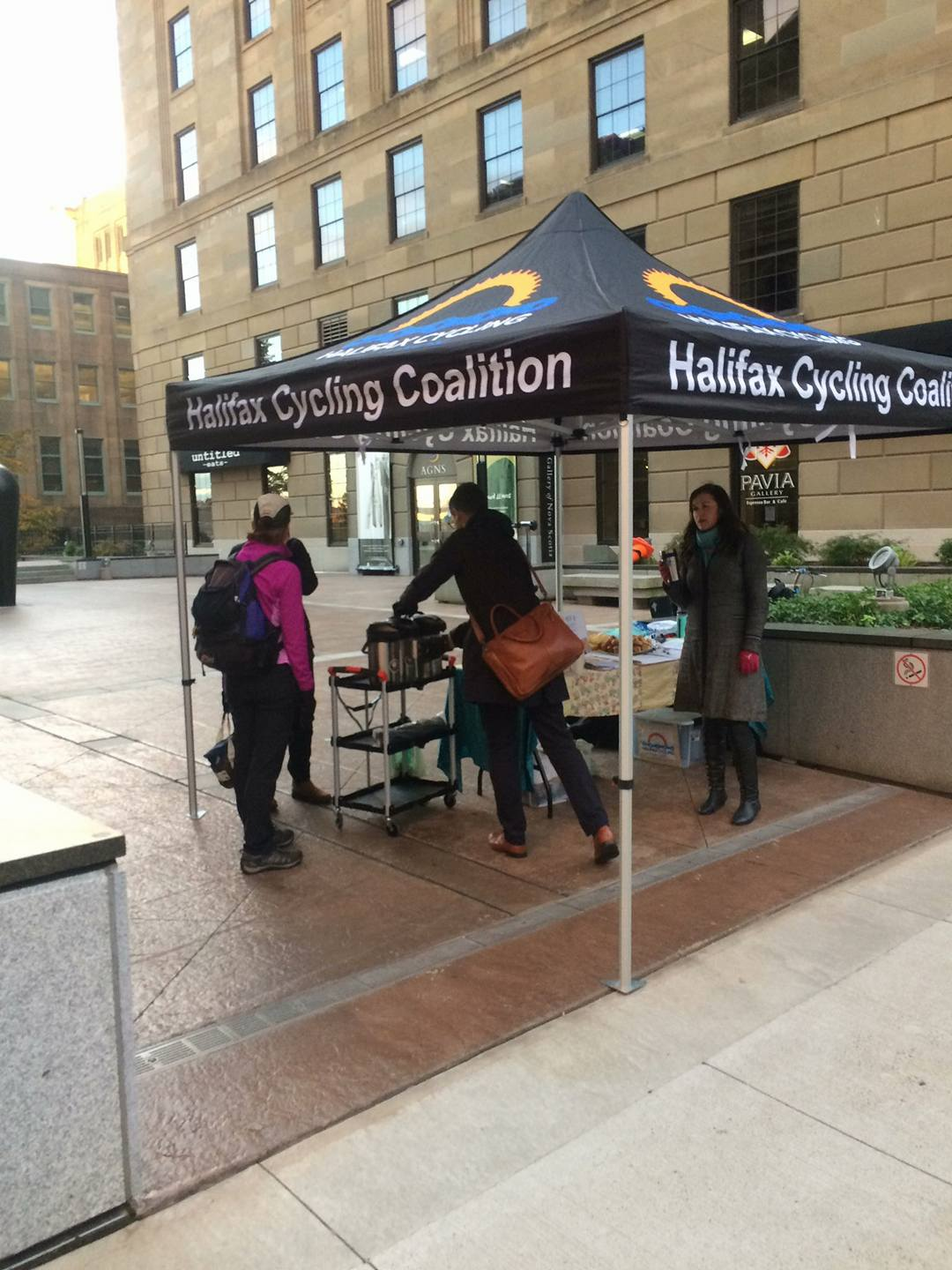 PAVIA regularly donates to local charities and organizations. In this case, the Halifax Cycling Coaltion put on an event to thank local cyclists for leaving their cars at home and taking their bike into work!