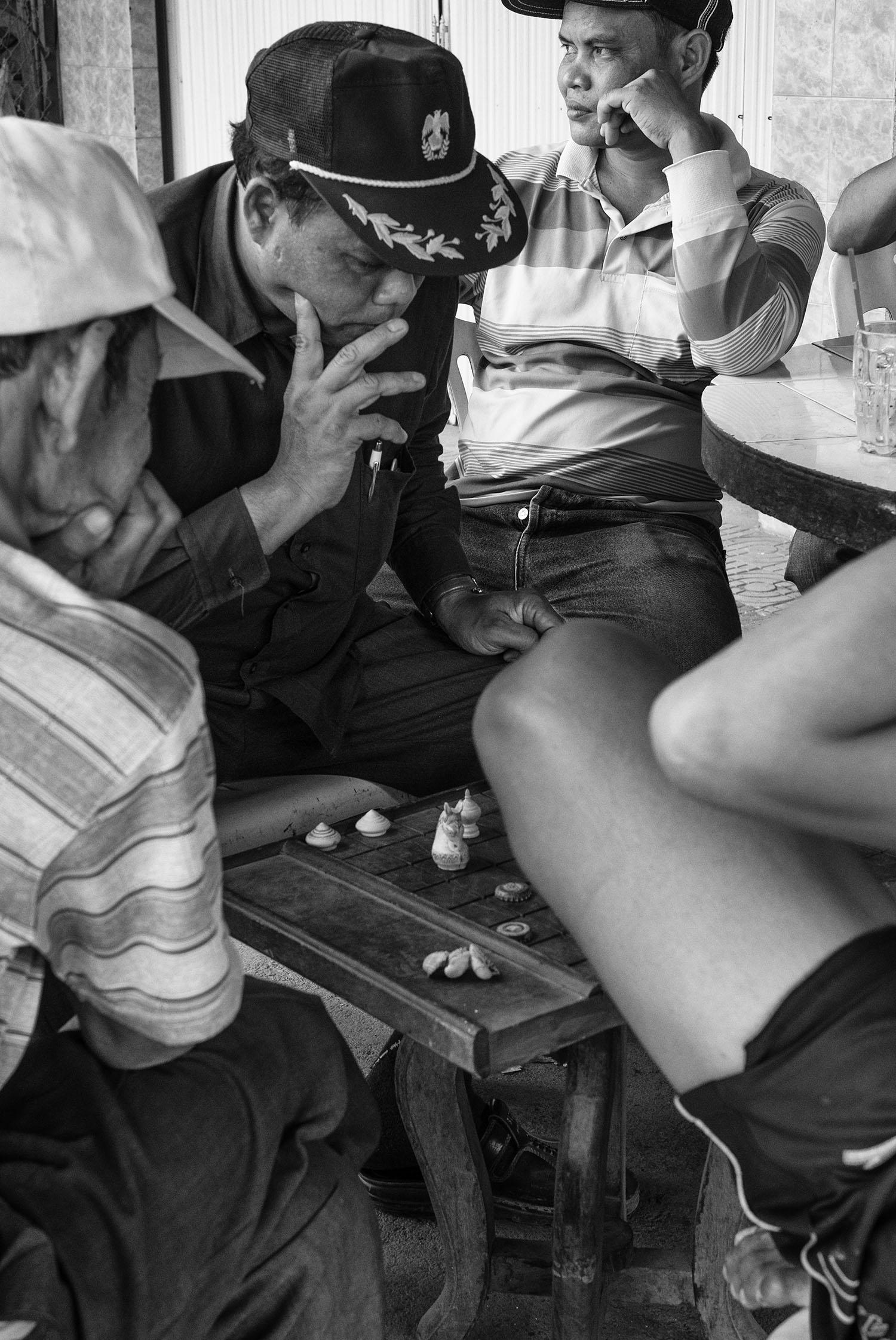 Chess players, Battambang, Cambodia, 2015