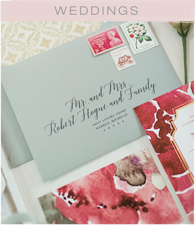 Princeton Wedding Invitation Designer | New Jersey Gold Foil Wedding Invitation