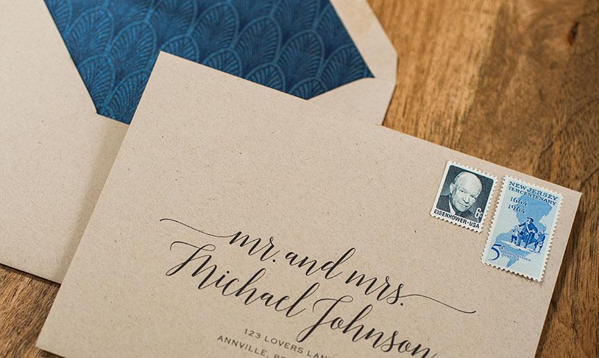 Princeton Wedding Invitation Designer Luxury Wedding Gold Foil Invitation