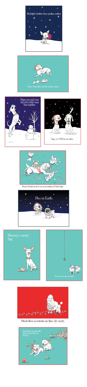 Dogbook Holiday Card illustrations ©Monika Melnychuk/i2iart