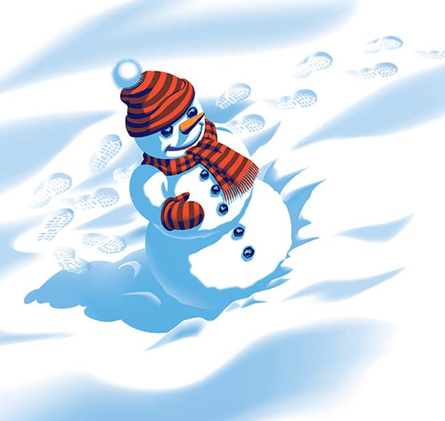 Snowman Finished Art 3b
