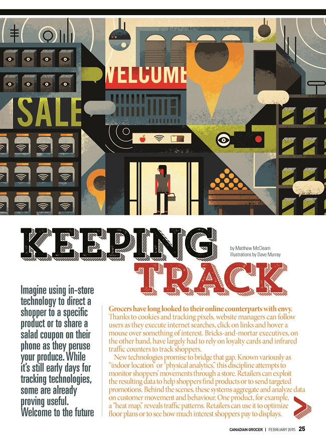 Dave Murray Illustration for Canadian Grocer