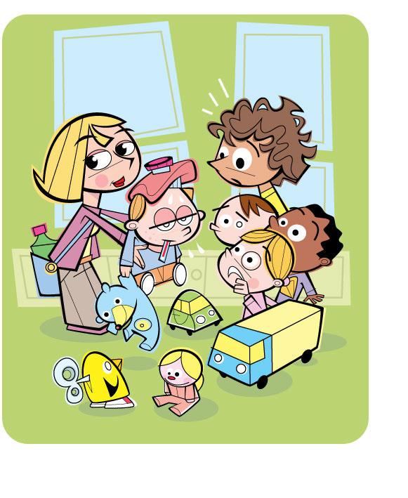 Sick Kids At Preschool - RS806