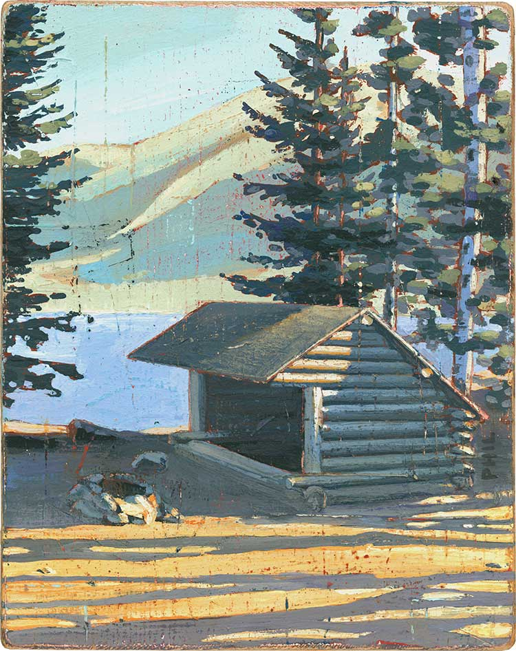 Lean To Cabin. Illustration by Phil