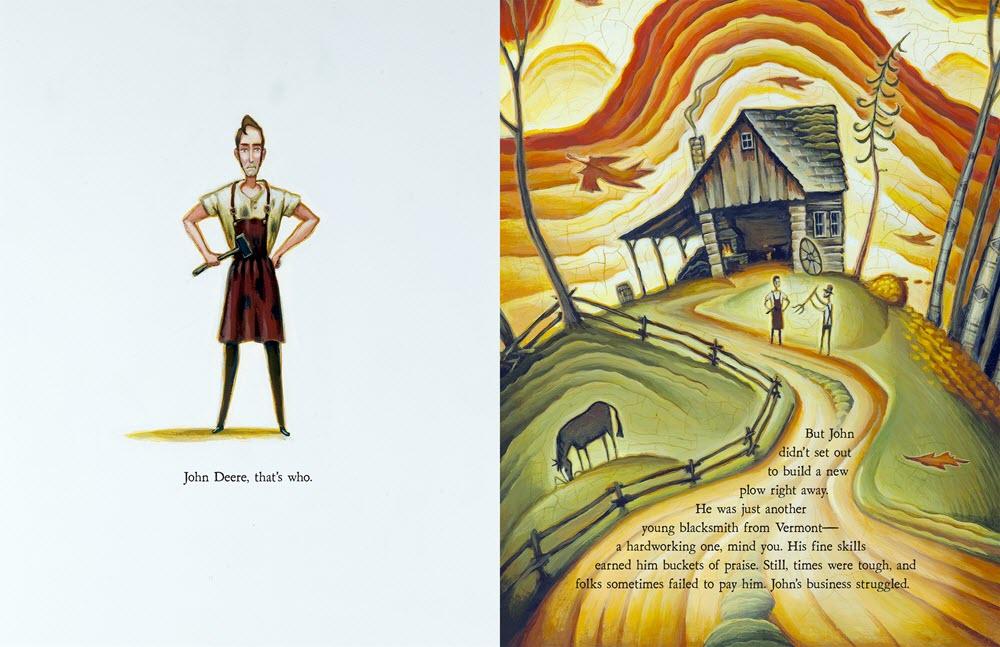 Tim Zeltner Illustration John Deere, That's Who! Spread 2