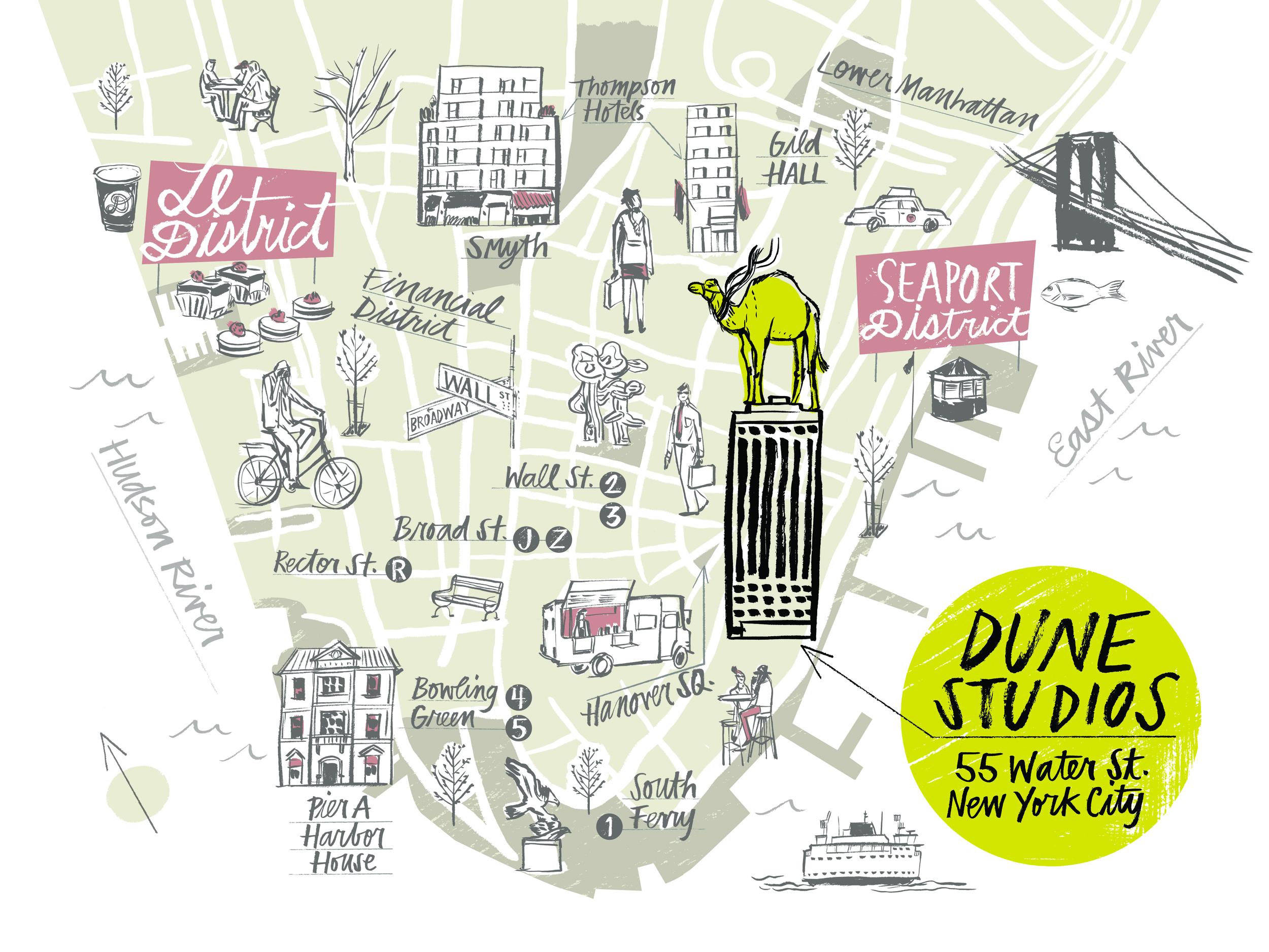 Dune Studios FiDi NY Map - KD497