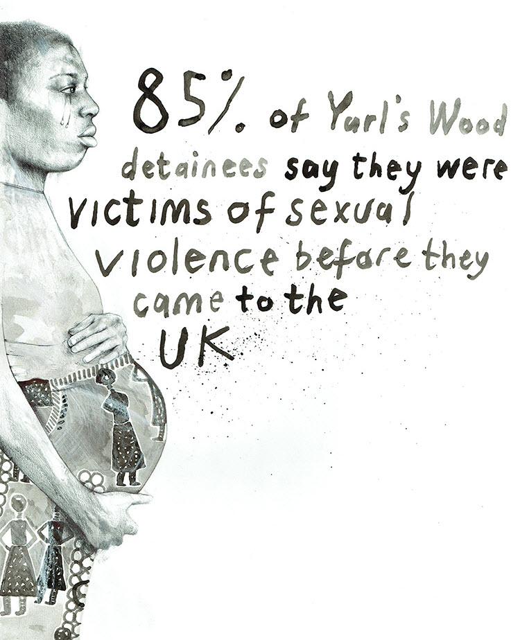 Yurl's Wood Asylum Seekers Talya Baldwin Illustration