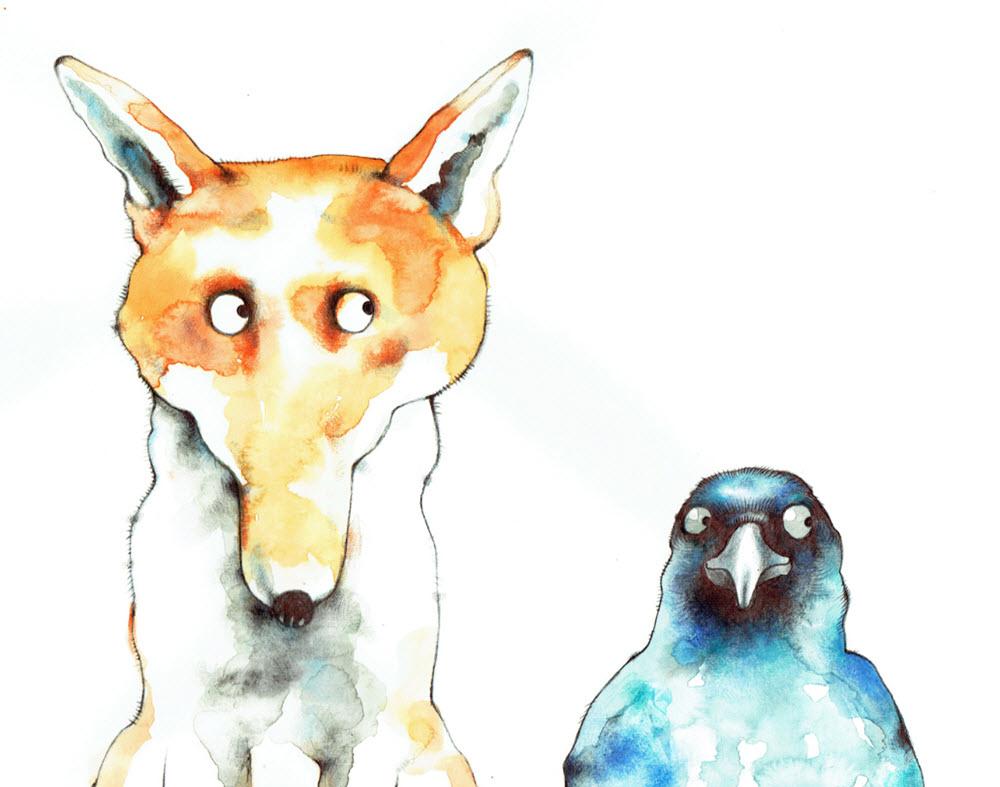 Fox's Party Talya Baldwin Illustration