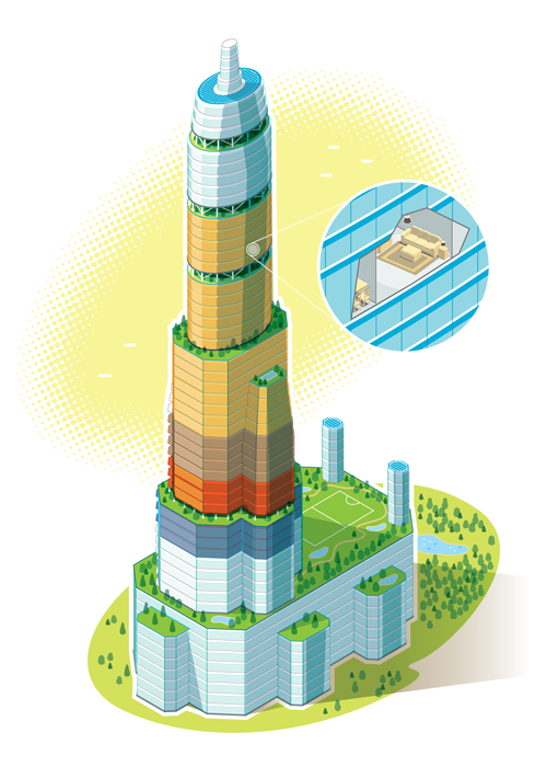 Tomorrow's Skyscraper Illustration Carl Wiens