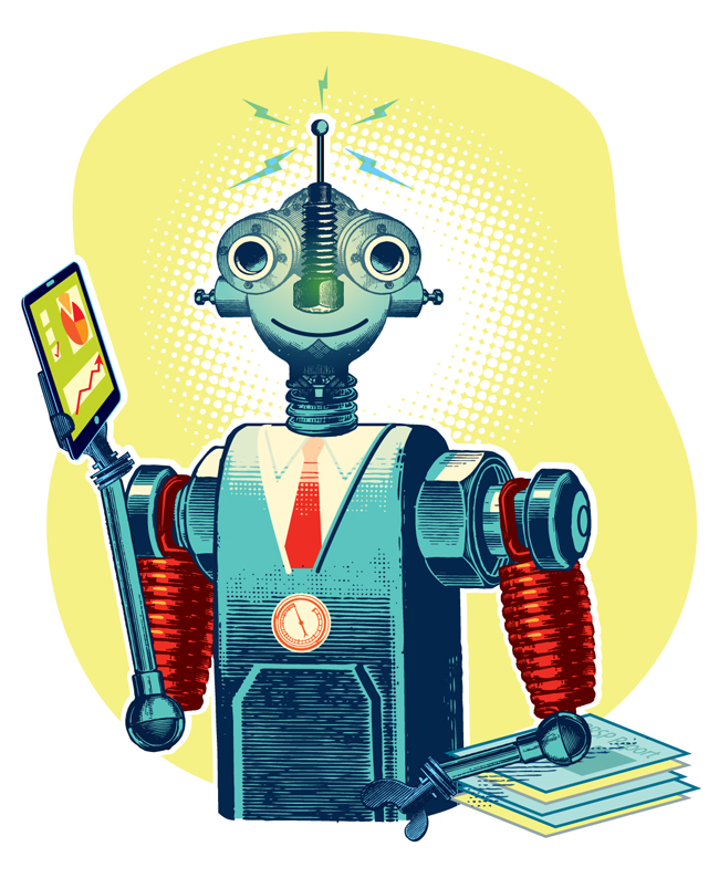 Your Robo-Advisor Illustration Carl Wiens
