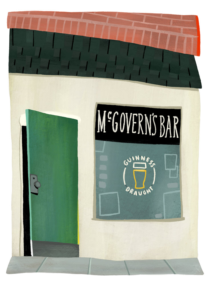 At the end of the night there is no better place to be than the iconic McGovern's Bar.