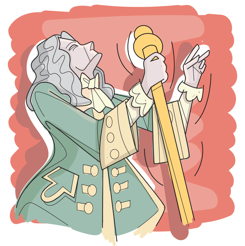Composer Lully Conducting - RS849